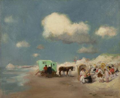 Henricus Antonius 'Han' van Meegeren (1889-1947) A sunny day on the beach of Scheveningen, oil on canvas. Collection Simonis & Buunk, The Netherlands