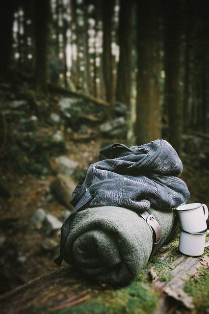 Camping | Blanket & tin cups and good. #CampingBlanket