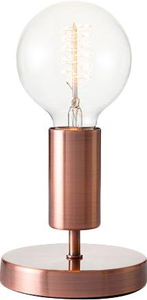 Modern style/ Retro Table Lamp with Edison bulb and a metal/copper stand. #retrolamp #bulblamp #copperlamp