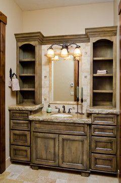 Custom Lodge Home in Caldera Springs - traditional - bathroom - other metro - Patty Jones Design, LLC #bathroomvanities