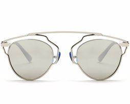 Štýlové polarizované slnečné okuliare - strieborno-biele