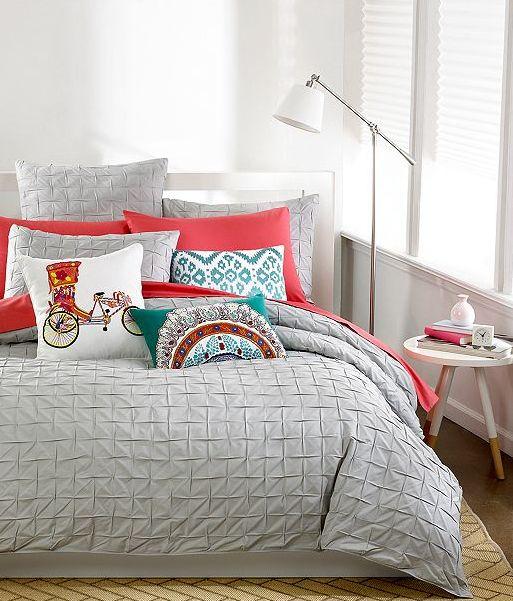 This light and bright bedroom look is so pretty! #weddingchickspick #bedding #macys ---> http://www.macys.com/registry/wedding/catalog/product/index.ognc?ID=775841&cm_mmc=BRIDAL-_-CARAT-_-n-_-WCPinterest