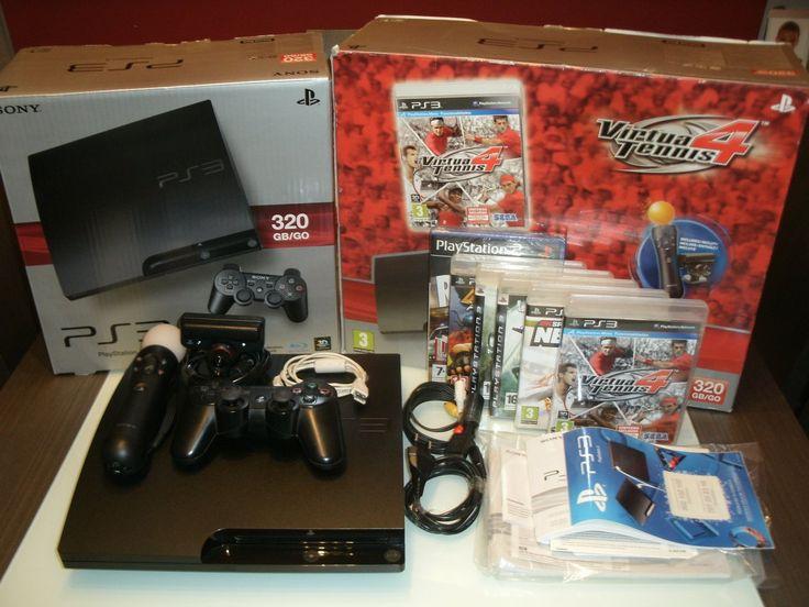 """180,00€ · Se vende PS3320 GB/GO (En sus cajas originales) · Se vende PS3320 GB/GO (Embalada en sus cajas originales), con toda la documentación original y todos los cables. En perfectísimo estado, prácticamente nueva.  Compuesta de: Consola, Mando inalámbrico, PlayStation Move (mando de movimientos y cámara).  6 juegos: DUKE NUKEM Forever, CALL OF DUTY 4, UNCHARTED """"El tesoro de Drake"""", NBA 2K 10, LONDON RACER """"Police Madness"""", VIRTUAL TENNIS 4  Se vende ya que prácticamente no se ha usado…"""
