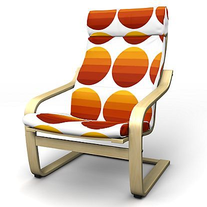 Poäng Armchair cover with attached neck cushion - Armchair Covers   Bemz