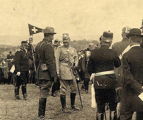 Beyers saam met die Keiser, 1912, Switzerland.