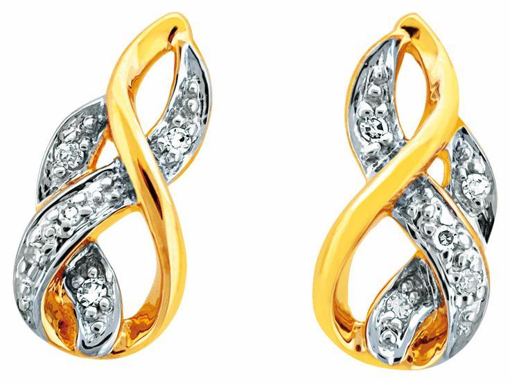 Kolczyki z żółtego złota z diamentami | Apart