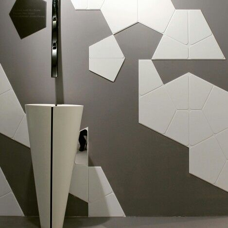 MyBath Penta Corian washbasin and tiles  www.mybath.pl  Design by Mac Stopa