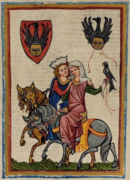 Hawking? 23-12-11  Codex Manesse, fol. 69r, Wernher von Teufen