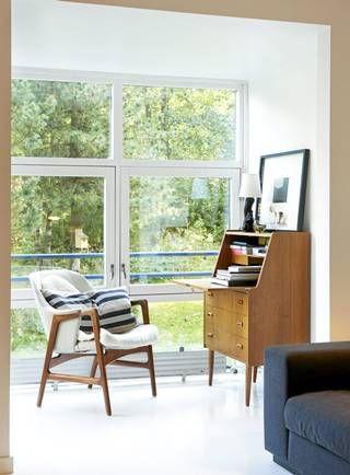EKSTRA ROM: Leiligheten er liten, men den er knyttet til en stor hage. Det gjør at leiligheten føles større enn sine 40 kvadratmeter.