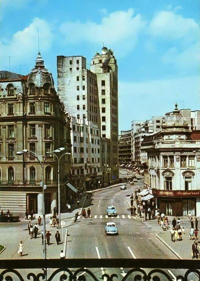 Old view of Calea Victoriei, Bucharest, Romania