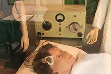 Electroconvulsive Therapy (ECT)-- formerly known as electroshock therapy and often referred to as shock treatment, is a psychiatric treatment in which seizures are electrically induced in patients to provide relief from psychiatric illnesses.The ECT procedure was first conducted in 1938  and is the only currently used form of shock therapy in psychiatry. ECT is often used with informed consent as a last line of intervention for major depressive disorder, mania and catatonia.