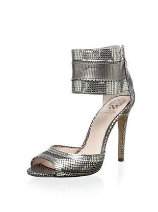Vince Camuto Women's VC Latese Sandal (Urban Black/Urban Silver)
