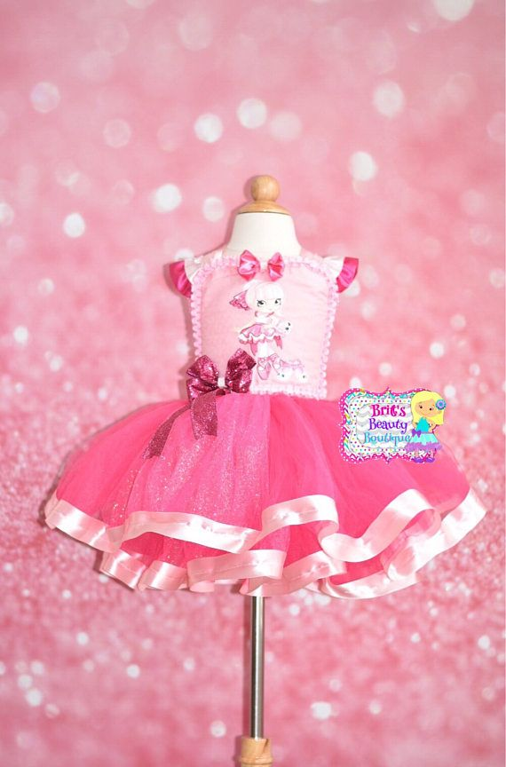 Inspired by Shopkins Shoppie PIROUETTA Ribbon Trim Tutu Dress/Ballerina Tutu Dress/Ballerina Costume/Halloween Tutu Dress/Halloween Costume
