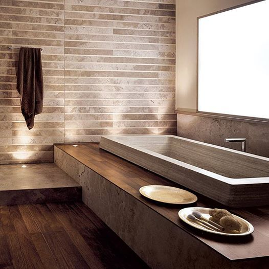 An Exquisite Stone Bathtub By Vaselli That Can Be Made With Custom Stones.  #bathtub