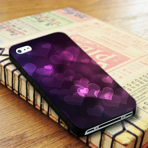 Blurred Light Love Purple Colour iPhone 4|iPhone 4S Case