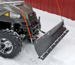 We've been using a SUPER ATV Plow Pro Heavy Duty Plow on our Polaris Ranger for the past year and it's been excellent. Overall the kit was easy to assemble and works exactly like we hoped it would.