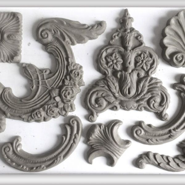 Classical Elements Decor Moulds Iron Orchid Designs Kristi Kuehl Pure Home Paint Cling On Brush Iron Orchid Designs Elements Orchids