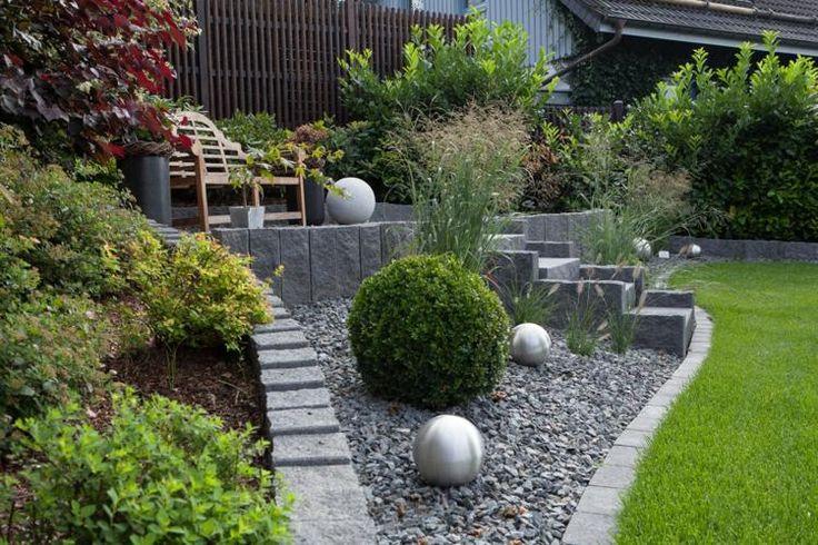 gartengestaltungsideen: steingarten anlegen mit passender, Gartenarbeit ideen