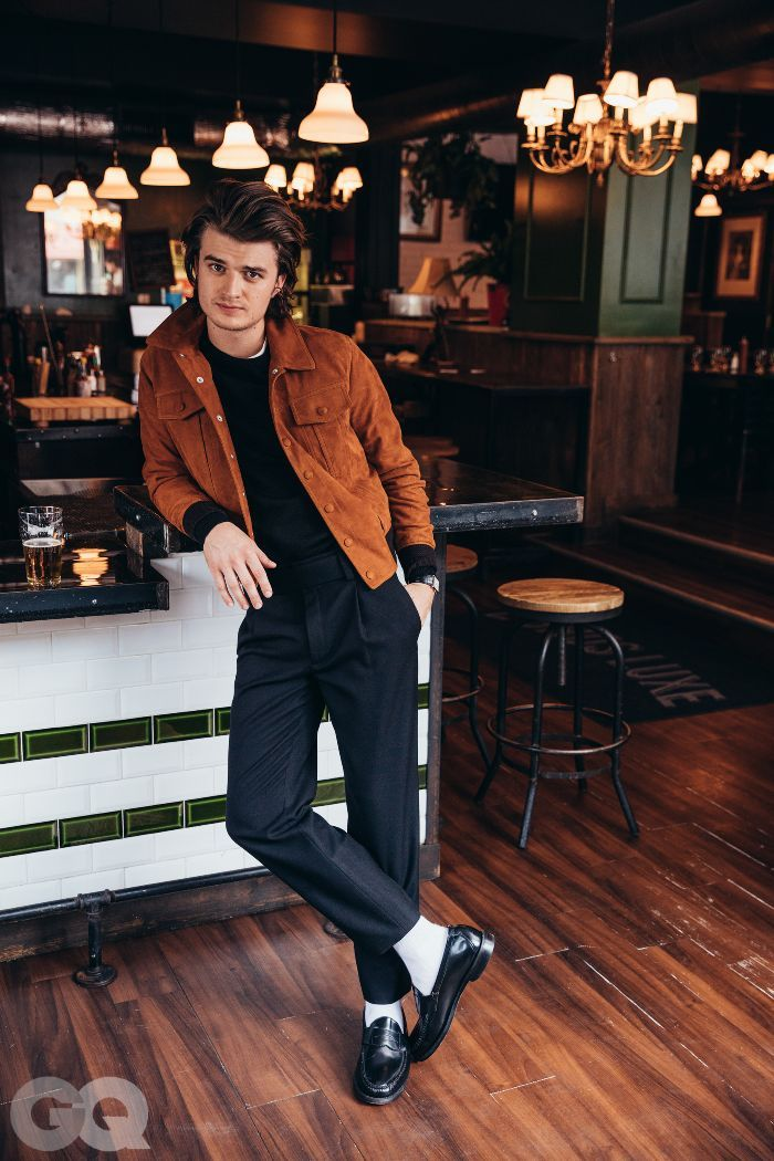 17945cf62f Stranger Things star Joe Keery recently did a photo shoot with GQ featuring  fall looks even we want to try.