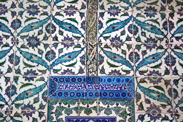 Topkapi Palace in Istanbul. Wonderful walls.