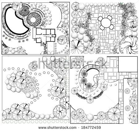 24 best Garden design symbols images on Pinterest Architecture