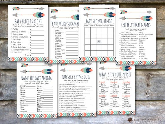 Tribal Arrow Baby Shower Games  Tribal Baby Shower Games