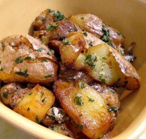 Smashed Fingerling Potatoes.