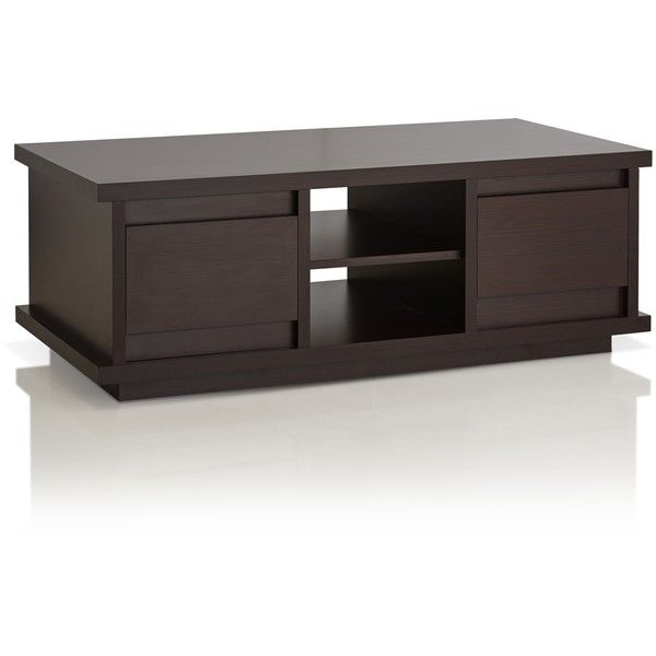 Furniture Of America Irvine Contemporary Walnut Coffee Table ($159) ❤ Liked  On Polyvore Featuring
