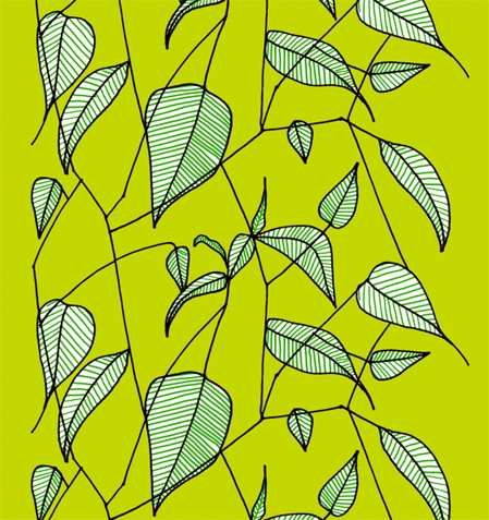 Marimekko prints: Embroidery Patterns, Green Leaves, Vintage Fabrics, Textiles Art, Inspiration Boards, Artsy Pantsi, Marimekko Fabrics, Marimekko Patterns, Patterns Marimekko