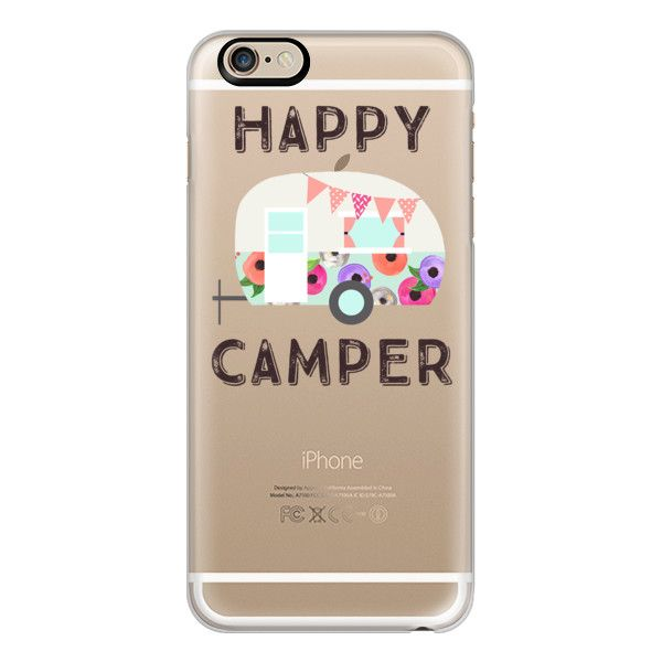 Happy Camper + Floral Retro Camper - iPhone 7 Case, iPhone 7 Plus... ($40) ❤ liked on Polyvore featuring accessories, tech accessories, iphone case, iphone cases, retro iphone case, slim iphone case, apple iphone cases and iphone cover case