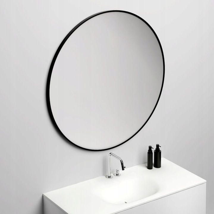 Lustro Okragle 80cm Czarne Metalowe Scienne 7678345544 Oficjalne Archiwum Allegro Bathroom Mirror Round Mirror Bathroom Mirror
