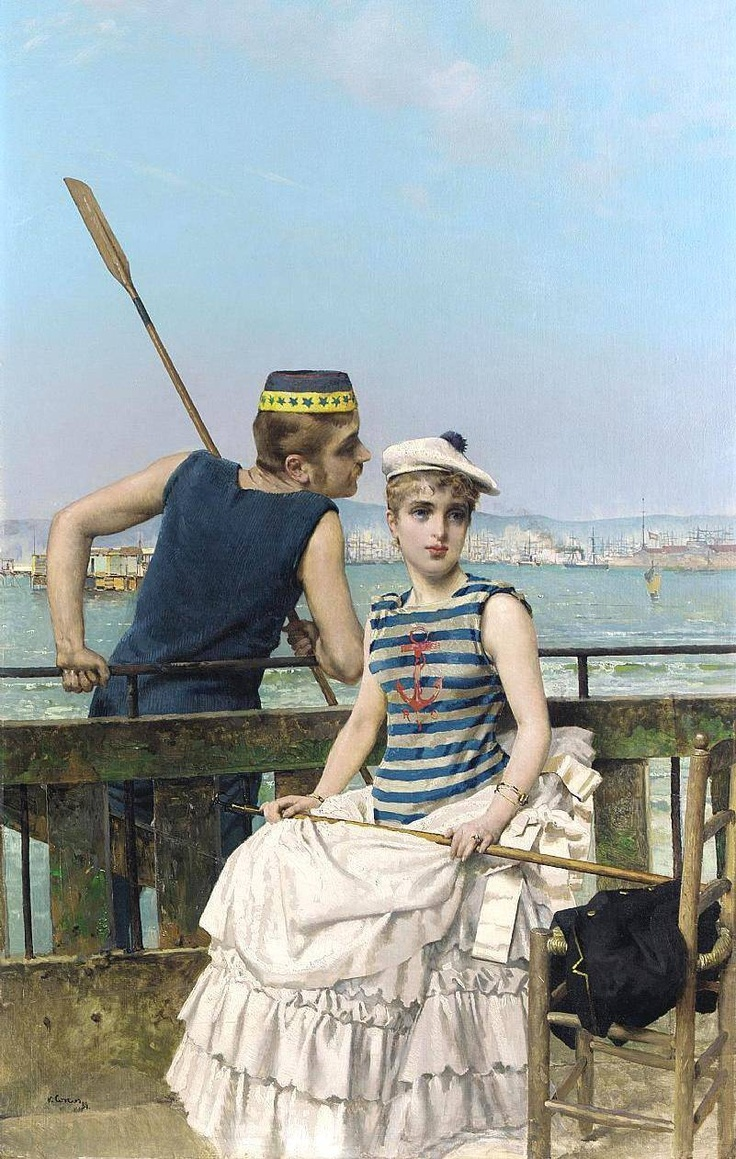 Retratista Vittorio Matteo Corcos - Taringa! I love the composition of this painting.