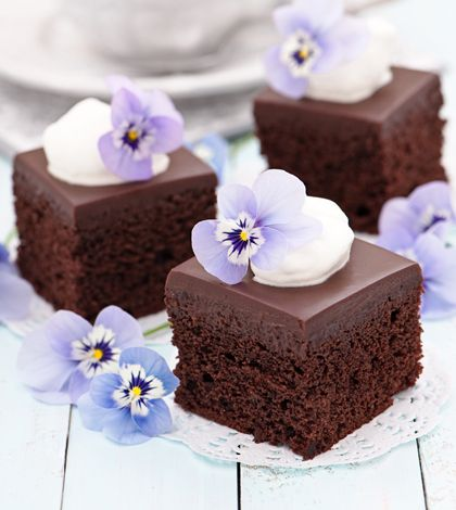 Brownie con glassa al cioccolato