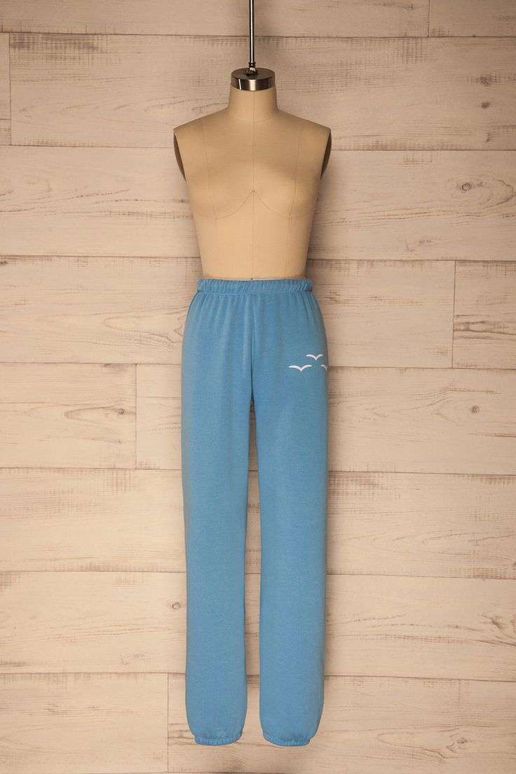 Virbo Blue #Boutique1861 / These cute and comfy sweatpants are a necessary addition to your wardrobe! The loose fit and super soft material make these pants ideal when comfort is your prime concern. The elastic waist and ankles, plus the hidden drawstring make for a secure fit. Perfect whether you're heading out to the gym or staying in for a lazy day!