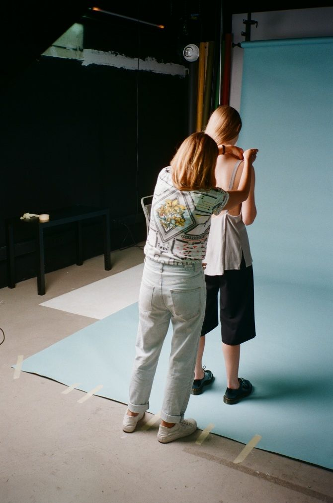 Colmillo de Morsa - SS16 Abstraction in blue - Photographer: Amir Kuckovic - Makeup artist: Myriam López - Model: Linde (Blow)