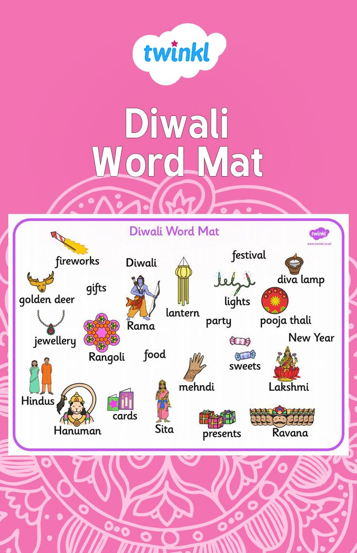 A Colourful Word Mat Containing The Main Vocabulary Encountered When Writing About The Diwali Topic Also Available In Cu Diwali Activities Diwali Diwali Story [ 1140 x 735 Pixel ]