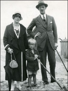 Prince Philip (center) with parents, ca. 1923