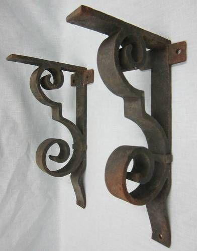 2 vintage haasbrock sonderguard cast iron shelf socr923 ebay