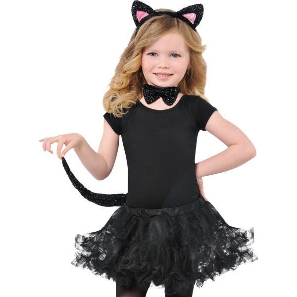 halloween costume ideas for kids child glitter cat accessory kit williams 13225