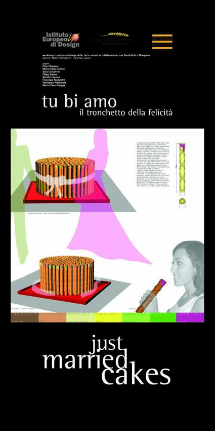 Master Food Design IED Roma 2006 - Just married cakes - 9    #masterfoodesign #iedroma #foodesign #design #food #drink #weddings #kromosoma #francescosubioli #design #architecture #art