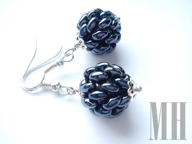 Naszyjnik i kolczyki z koralików Preciosa Twins | MH Biżuteria - cuda ręcznie wykonane