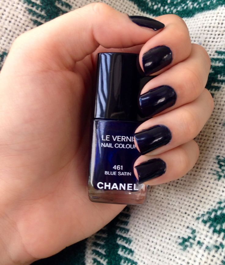 Loved this Chanel Blue Satin Nail Polish! Too bad its my mother's