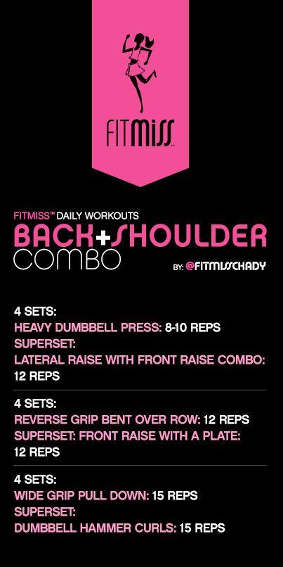 FitMiss Back + Shoulder Combo Workout