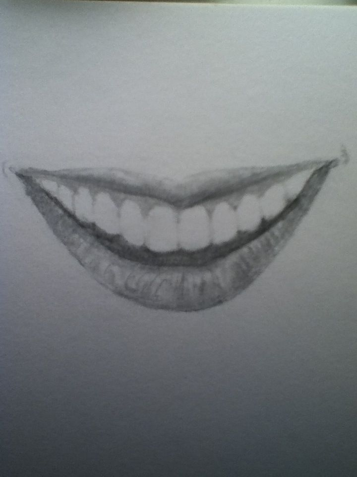 How to Draw Lips (With Teeth) I have been wanting to know ... Pencil Drawings Of Lips Smiling