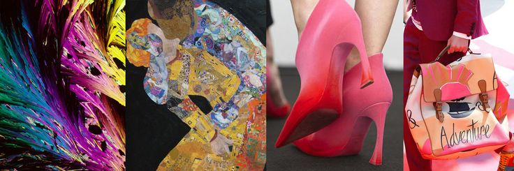 Trend Beacon [HI]story - 'Dreamagination' Christine Boland voor AW 15-16. Collage by No22 l.t.r. Bevshots, collage 'Using Klimt' door Pamela Spiro-Wagner, schoenen Dior, Burberry via WGSN.