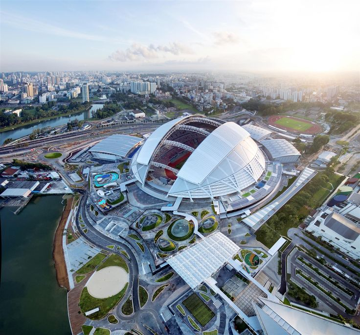 Singapore Sports Hub designed by Arup, DP Architects and AECOM