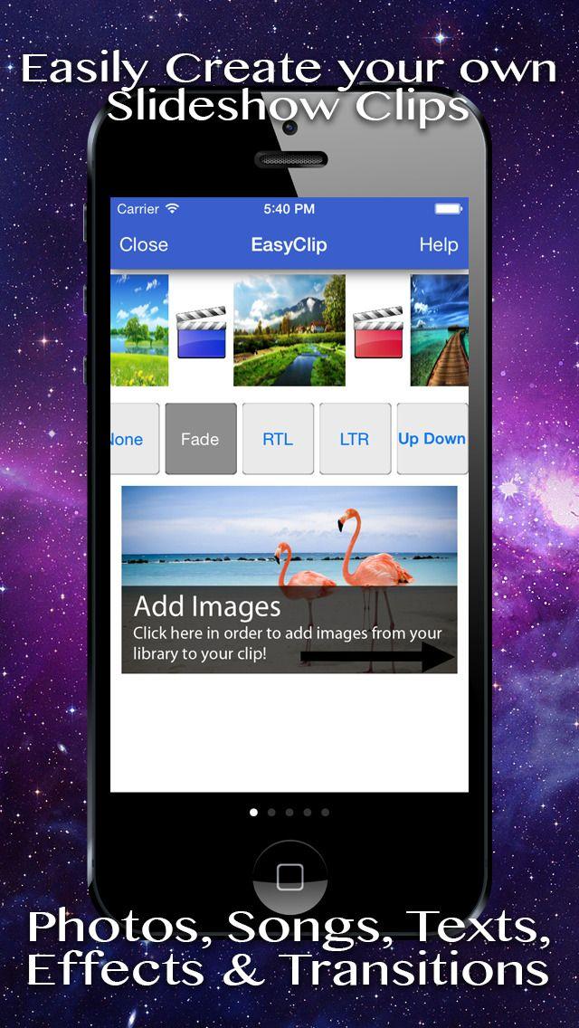 EasyClip - Image Slideshow Clip Movie Maker Creator by saar baruch gone Free