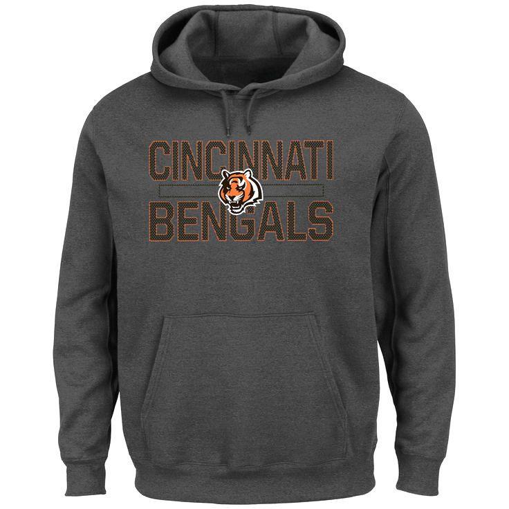 Cincinnati Bengals Majestic Big & Tall Kick Return Pullover Hoodie - Charcoal - $51.99