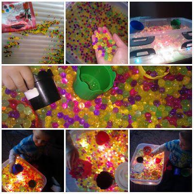 kreatywnyMaks: hydrożel i pudło sensoryczne :)