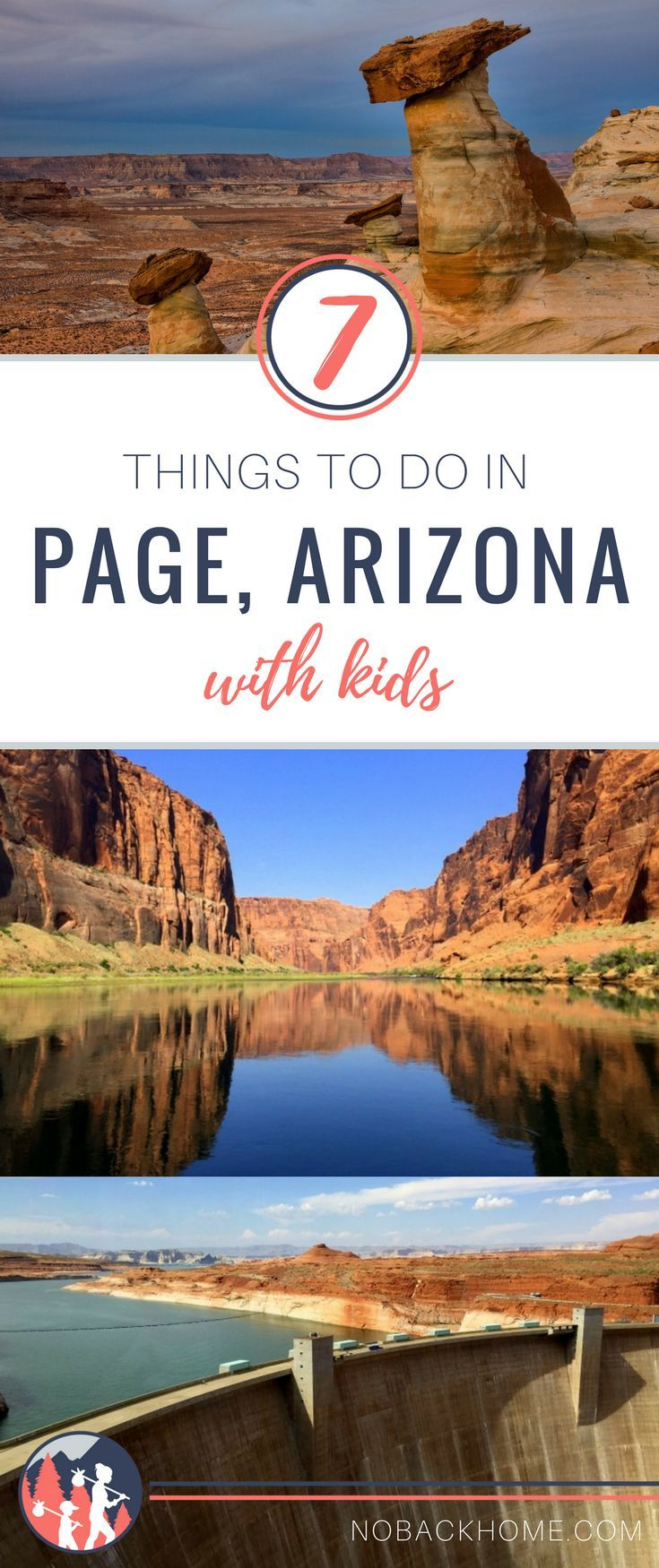 If you are visiting the Grand Canyon, don't miss one of the state's highlights at Page Arizona. From Horseshoe Bend to Antelope Canyon it's an outdoor lovers dream. #page #arizona #horseshoebend #outdoorfamily